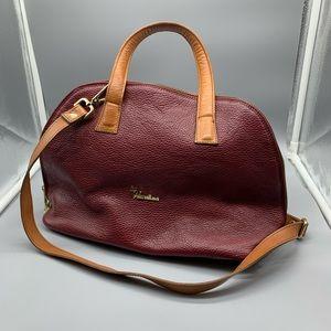 Valentina leather satchel bag